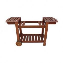 Chariot en bois pour planchas 50-60-75 cm