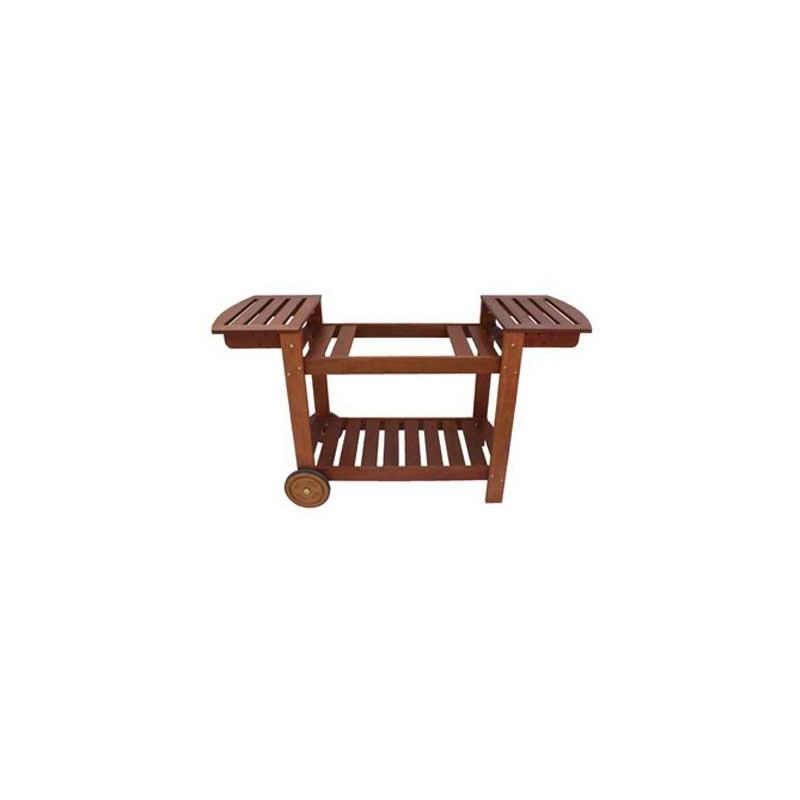 chariot en bois pour planchas 50 60 75 cm. Black Bedroom Furniture Sets. Home Design Ideas
